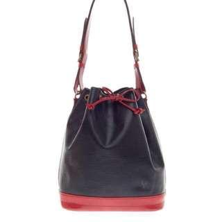Vintage Louis Vuitton Black Red Bucket Bag ( good condition)
