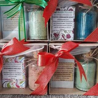 Natural soaps and salt scrubs