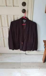 Suitables Purple Blazer Jacket Coat