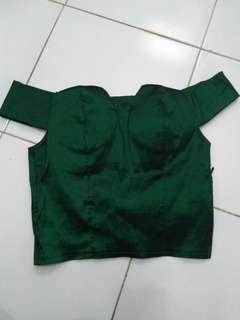 Top Hijau Emerald Mewah