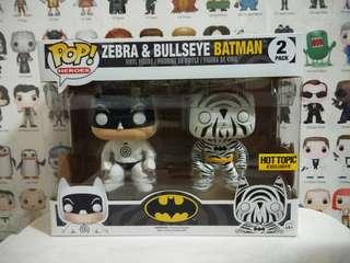 🚚 Funko Pop Zebra & Bullseye Batman 2 Pack Hot Topic Exclusive Vinyl Figure Collectible Toy Gift Movie Comic Super Hero DC