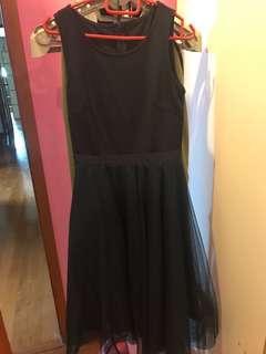 🚚 AWD mesh midi navy dress