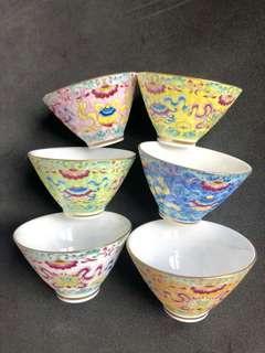 景德鎮手繪茶杯6隻