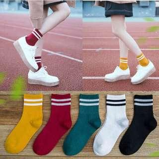 Korean cotton striped socks #MY1212