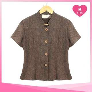 Brown Buttoned Blouse