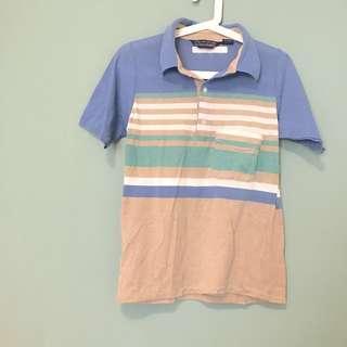 📣期間限定最低價 復古條紋 襯衫式T-shirt