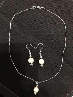 Customised necklace & earrings