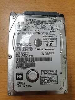 "500GB 2.5"" Harddrive"