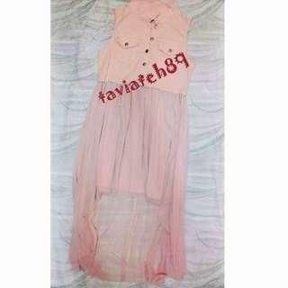 🆕Kitschen Pink Denim High Low Maxi Dress