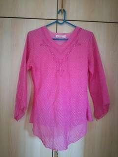 Pink Kebaya Blouse