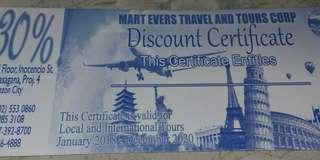 For travel discount