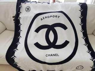 Chanel Throw Rug Blanket New 120x150 mink New