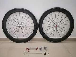 CarbonSpeedCycle 50mm Carbon Wheelset