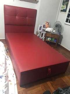 Storage bed (Super Single) with clean mattress