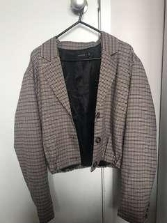 GLASSONS HOUNDSTOOTH JACKET SIZE 10