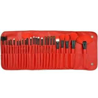 Brush Make Up For You Red 24 Pcs