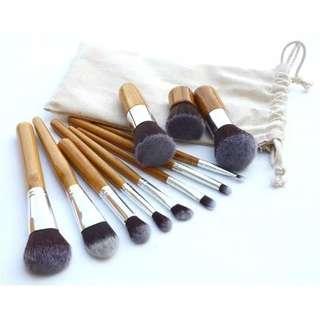 Bamboo Brush Set 11 Pcs