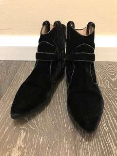 GIORGIO ARMANI Velvet Boots