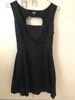 ASOS black skater dress with heart shape back