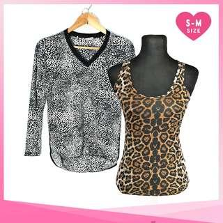 BUNDLE: Leopard Print Sleeveless and Long Sleeves