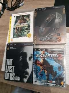 (nego until sold) PS3 Games, uncharted 1,2,3