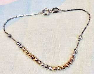 Mabelle 閃珠 白色 黃色 玫瑰金 14K 585 手鏈 gold bracelet