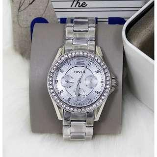 🚚 [Special Offer] Fossil ES3202 Riley Silver Dial Ladies Watch