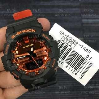 NEW🌟ARRIVAL in GSHOCK CASIO DIVER SPORTS WATCH : 1-YEAR OFFICIAL WARRANTY : 100% ORIGINAL AUTHENTIC G-SHOCK : Best For Most Rough Users & Unisex : GA-800-800BR-1ADR / GA-800BR-1A / GA-800 / GA800BR / GA800 / GSHOCK DIVER WATCH