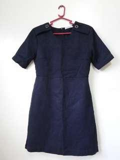 Midnight Blue Office Dress