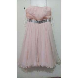 Peach Cocktail Dress
