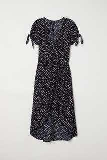 H&M Dotted Wrap Dress