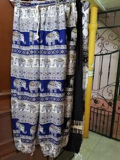BN Free Size Unisex Elephant Pants (4 Designs)