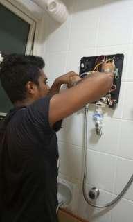 Instant water heater installation