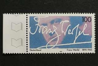 Germany 1995. The 50th Anniversary of the Death of Franz Werfel, Writer complete set of 1 stamp