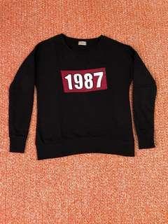 Pull & Bear 1987 pullover sweatshirt