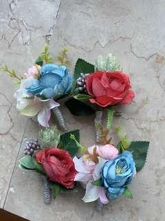 結婚 絲花襟花