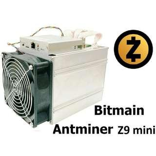 Two Used Antminer Z9mini