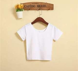 #MY1212 white crop top