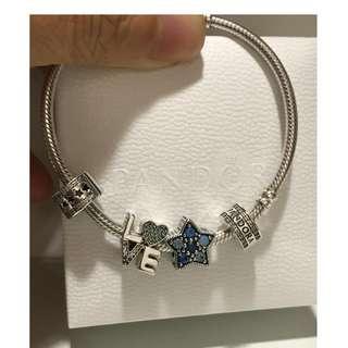 原價$699 可小議Pandora Bright Star Charm 藍閃石星星吊飾