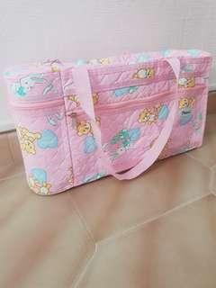 Pureen pink diaper bag