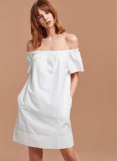 Aritzia Lunette Dress in White Size Small