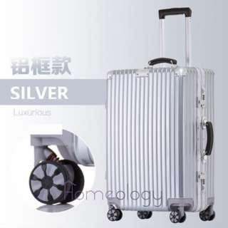 🚚 5 Sizes! Silver 20-29 Inch Travel Aluminum Alloy Frame Luggage Bag Suitcase TSA Lock
