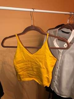 Bright yellow knit cami