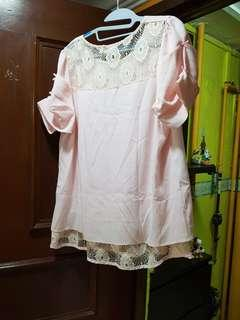 BN Size XL Pink Oversize Top
