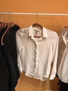 H&M button down chiffon blouse