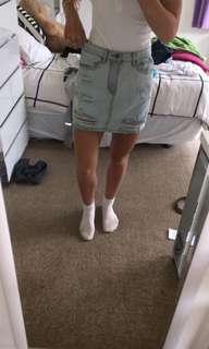 Glassons mini denim skirt
