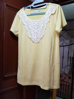 Suze XL Oversized Yellow Top (Stretchable)