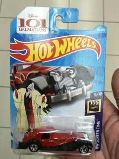 Hotwheels 101 Dalmatian Cruella De Vil
