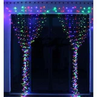 P12 KNONEW LED String Lights - 300LEDs Outdoor Indoor Window Curtain Icicle Lights Fairy String Light for Wedding Party Home Garden Bedroom Christmas Lighting Decorations 3m*3m for UK only(Muti-color)