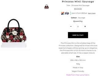 Save My Bag Princess Mini-Leopard/Flower-Handbag